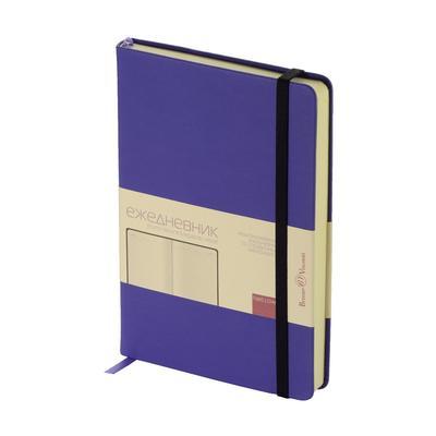 Ежедневник недатированный Bruno Visconti Megapolis Velvet искусственная кожа A5 160 листов фиолетовый (142x214 мм)