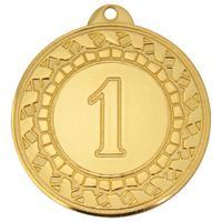 Медаль призовая 1 место 45 мм золотистая