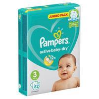 Подгузники Pampers Active Baby-Dry размер 3 (M) 6-10 кг (82 штуки в упаковке)