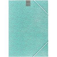 Папка на резинке Attache Fleur A4 30 мм картонная до 300 листов мятная (плотность 270 г/кв.м)