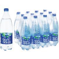 Вода питьевая BonAqua газированная 1 л (12 штук в упаковке)