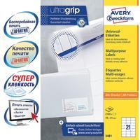 Этикетки самоклеящиеся Avery Zweckform (3481) 70х41 мм 21 штука на листе  белые (100 листов в упаковке)