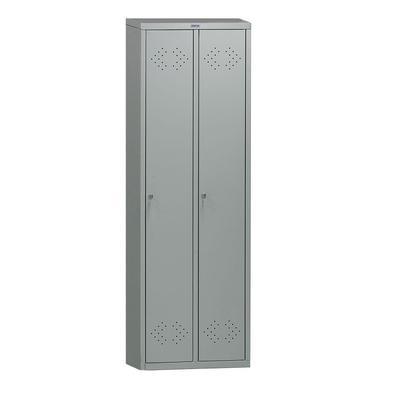 Шкаф для одежды металлический Практик LS-21 (2 отделения, 575x500x1830 мм)