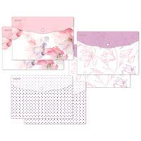 Папка-конверт на кнопке Attache Selection Flower Dreams A4 180 мкм (6 штук в упаковке)