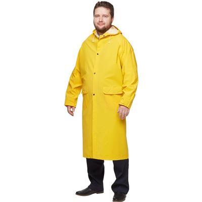 Плащ влагозащитный ПВХ желтый (размер XL, 48-50)