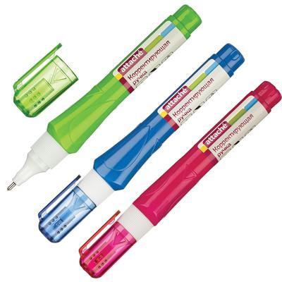 Корректирующий карандаш Attache 8 мл (быстросохнущая основа) цвет корпуса а ассортименте