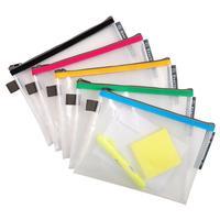 Папка-конверт Exacompta на молнии 170x230 мм в ассортименте 3 мм