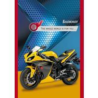 Блокнот Проф-пресс Быстрые мотоциклы А6 32 листа в клетку на скрепке (обложка в ассортименте)