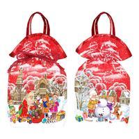 Новогодний сладкий  подарок мешочек Новогодний красный 800 г (с Milky  Way и купоном)