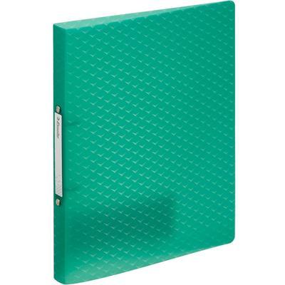Папка на 2-х кольцах Esselte Colour'Ice 25 мм зеленая до 140 листов (пластик 0.5 мм)
