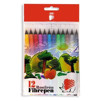 Фломастеры ICO 12 цветов