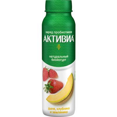 Йогурт питьевой Danone Активиа дыня/клубника/земляника 2% 260 г