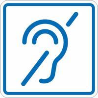 Знак безопасности Знак доступности объекта для инвалидов по слуху И14 (150х150 мм, пластик, тактильный)