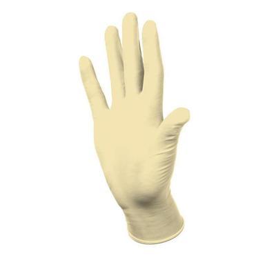 Перчатки медицинские смотровые латексные Dermagrip Classic нестерильные неопудренные бежевые размер XS (100 штук в упаковке)