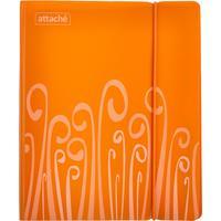 Бизнес-тетрадь Attache Fantasy А5 120 листов оранжевая в клетку 2 разделителя на кольцах (165х205 мм)