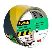 Лента клейкая для разметки 3М Scotch желтая/черная 50 мм x 33 м