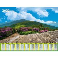 Календарь листовой настенный на 2022 год Гармония природы (450х590 мм)