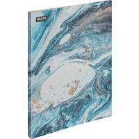 Папка с зажимом Attache Selection Fluid А4+ 0.45 мм голубая с рисунком (до 120 листов)