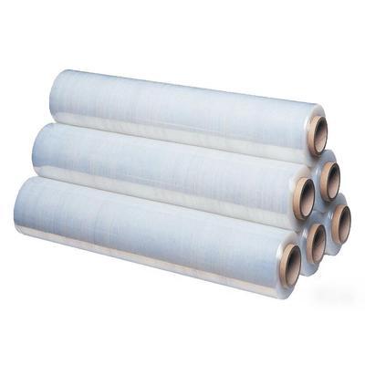 Стретч-пленка для ручной упаковки с втулкой 2 кг 20 мкм x 217 м x 50 см  белая (престретч 180%, 6 штук в упаковке)