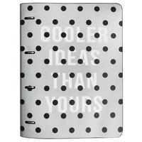 Бизнес-тетрадь Infolio Dots A4 120 листов разноцветная в клетку на кольцах (240x310 мм)
