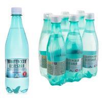 Вода питьевая Новотерская газированная 0.5 л (6 штук в упаковке)