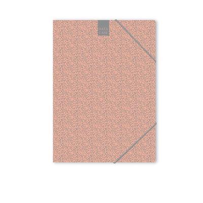 Папка на резинках Attache Fleur A4 18 мм пластиковая до 200 листов коралловая (толщина обложки 0.45 мм)