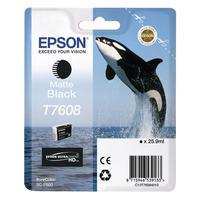 Картридж струйный Epson T760 C13T76084010 матовый черный оригинальный
