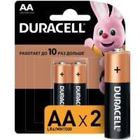 Батарейки Duracell Basic пальчиковые АА LR6 (2 штуки в упаковке )