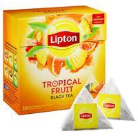 Чай Lipton Tropical Fruit черный с тропическими фруктами 20 пакетиков