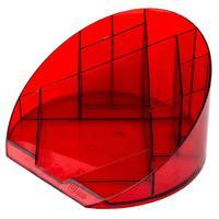 Подставка для канцелярских мелочей Attache Яркий офис 12 отделений прозрачная красная