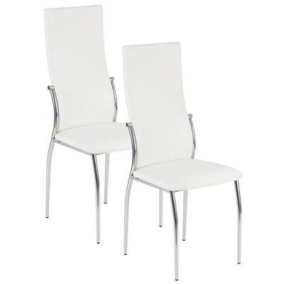 Уценка. Стул для столовых Пекин светло-серый (кожзаменитель/хромированный металл, 2 штуки в упаковке) уц_меб