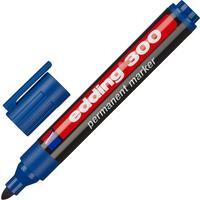 Маркер перманентный Edding E-300/3 синий (толщина линии 1,5-3 мм) круглый наконечник