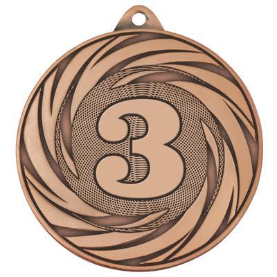Медаль призовая 3 место 70 мм бронзовая