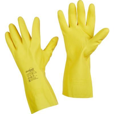 Перчатки Manipula Specialist Форсаж L-F-14 из латекса желтые (размер 10-10.5, XL)