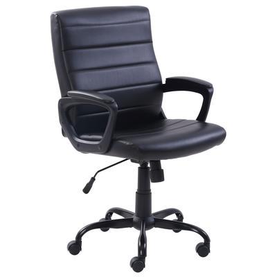Кресло для руководителя Easy Chair 581 TR черное (рециклированная кожа, металл)