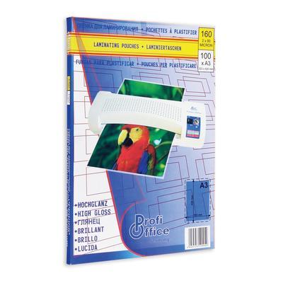 Пленка для ламинирования ProfiOffice 303x426 мм (А3) глянцевая (100 штук в упаковке)