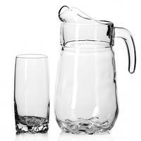 Набор посуды для питья Pasabahce Sylvana силикатное стекло - кувшин 1350 мл и 6 стаканов 300 мл (артикул производителя 97875B)
