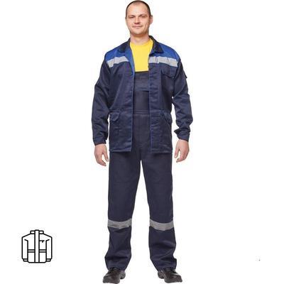 Куртка рабочая летняя мужская л03-КУ с СОП синяя (размер 52-54 рост 182-188)