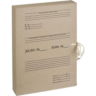 Короб архивный на 2-х завязках Attache 50 мм картон бурый до 500 листов