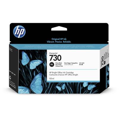 Картридж струйный HP 730 P2V67A фото черный оригинальный