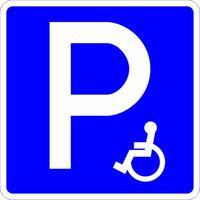 Дорожный знак 6.4.17д Парковка для инвалидов
