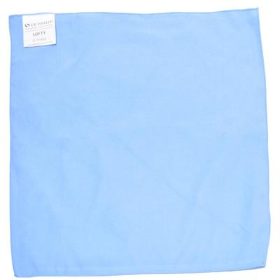 Салфетки хозяйственные Vermop Softy микрофибра 40x40 см синие 3 штуки в упаковке