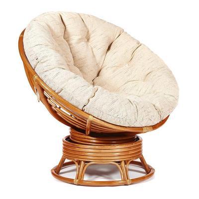 Кресло-качалка Papasan Cognac (коричневое, 980х980х1150 мм)