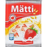 Каша Matti овсяная клубника со сливками 6 штук по 40 г