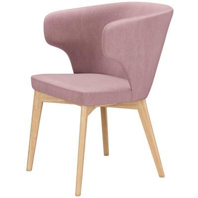 Кресло Marco розовое (шенилл/металл)