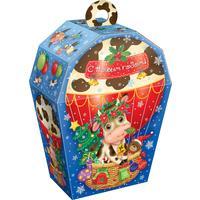 Новогодний сладкий подарок Коровка на шаре 1000 г  (с магнитом)