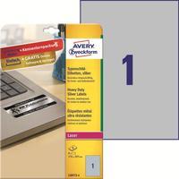 Этикетки самоклеящиеся Avery Zweckform для инвентаризации серебристые A4 210 x 297 мм (1 штука на листе, 8 листов, артикул производителя L6013-8)