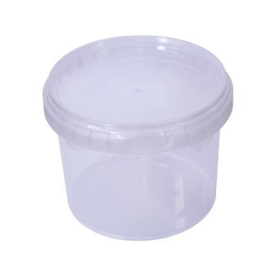 Ведро пластиковое 0.55 л прозрачное с крышкой