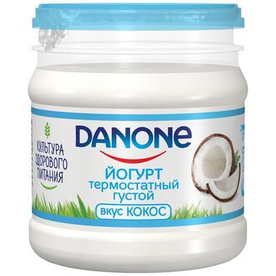 Йогурт термостатный кокос Danone 3.3% 160 г