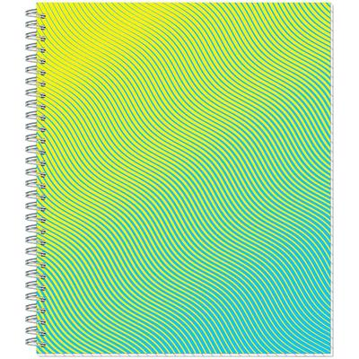 Тетрадь общая Attache Lines Waves А5 96 листов в клетку на спирали